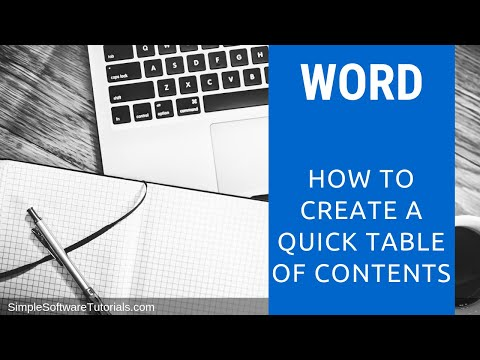 Tutorial: How to Create a Quick Table of Contents in Word 2016
