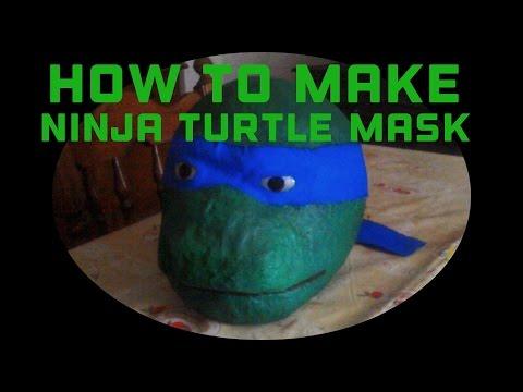 How to make a ninja turtle mask (tutorial)