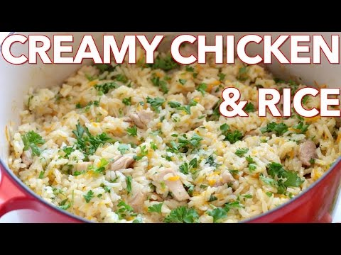 Dinner: Creamy Chicken and Rice - Natasha's Kitchen