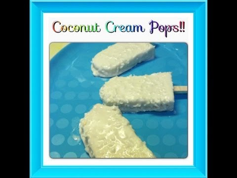 Coconut Cream Popsicles!  Noreen's Kitchen Frozen Favorites!