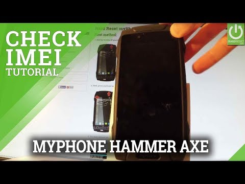 How to Check IMEI in myPhone Hammer Axe - IMEI Information