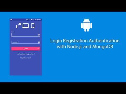 Android Login Registration Authentication with Node.js and MongoDB