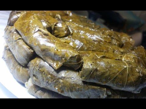 Stuffed Vine Leaves The Egyptian Way  محشي ورق العنب بالطريقة المصرية