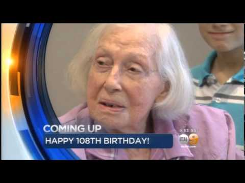 Hannah Licht's 108th Birhday Celebration - KCAL News