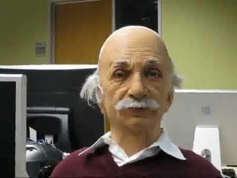 Einstein humanoid robot head