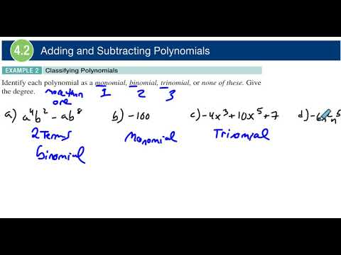 4.2 Example 2 Classifying Polynomials