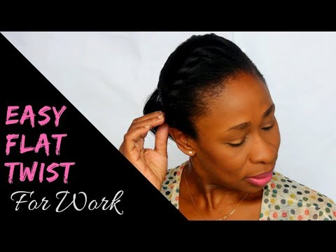 Relaxed Hair Flat Twist Tutorial & Hairstyle