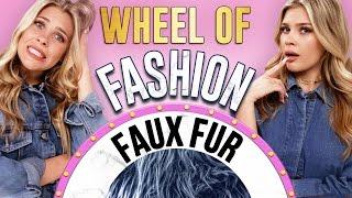 FAUX FUR CHALLENGE?! Wheel of Fashion w/ Caci Twins