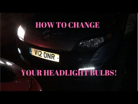 How To Change Your Headlights On Megane MK3 RS! Hidden Tool!