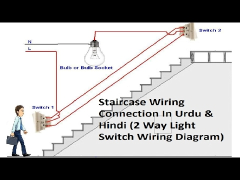 2 Way Light Switch Wiring || Staircase Wiring Connections || In Urdu & Hindi