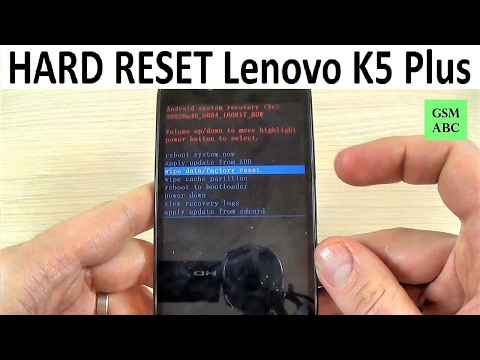 HARD RESET Lenovo K5 Plus | How to | Tips and Tricks