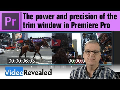 The power and precision of the trim window in Adobe Premiere Pro