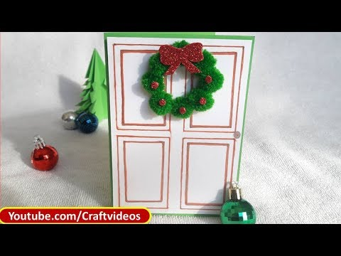 Easy Christmas Card Making Ideas for Kids | Christmas Wreath Cards