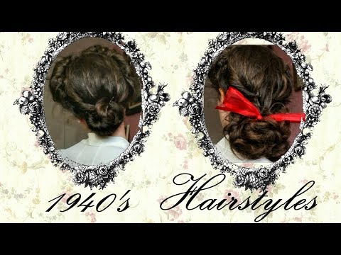 2 1940's Updo Hairstyles For Long Hair