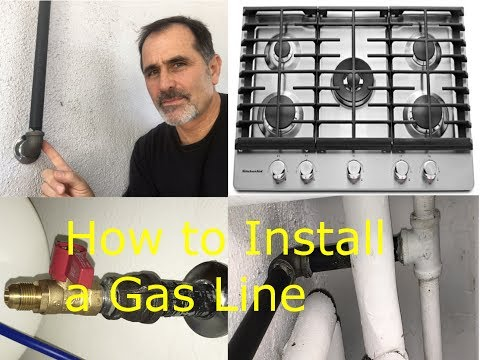 How to Install a Gas Pipe Line to a Stove  - James W