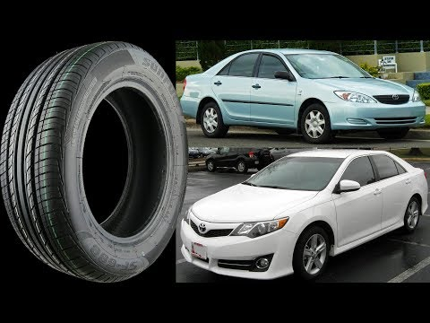 Stock Tire Size for all TOYOTA CAMRY 1986-2018 original equipment