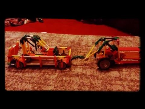 Knex tractor and trailer