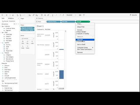 Tableau Tutorial 30: How to Calculate Time Difference and Create Flags with Table Calculation