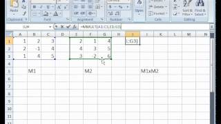 Multiply Matrices With Excel Function Mmult