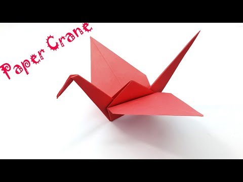 How To Make Paper Crane | Origami Step by Step - Easy for Beginners (Folding Instructions)