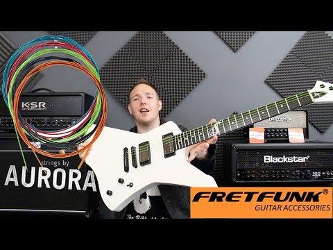 Aurora Coloured Guitar Strings!  FRETFUNK!
