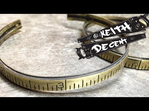 DIY VINTAGE BRASS RULER BRACELET - a Decent project