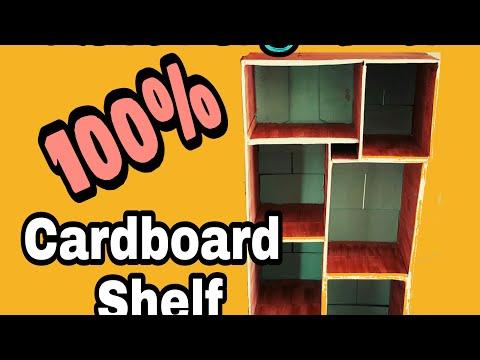 DIY CARDBOARD SHELF / CLOSET ORGANIZER SHELF TUTORIAL