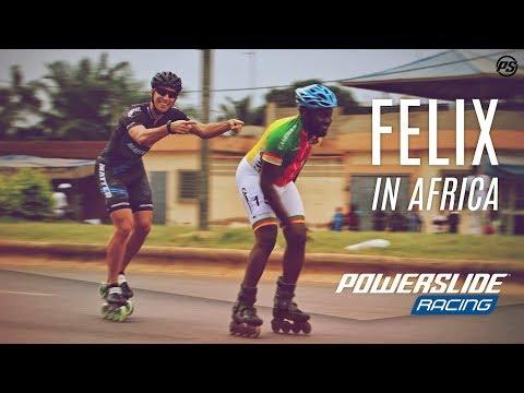 Felix in Africa - Powerslide Racing inline skates in Togo