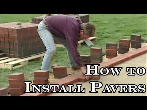 Installing Pavers. How to Cover a Concrete Patio