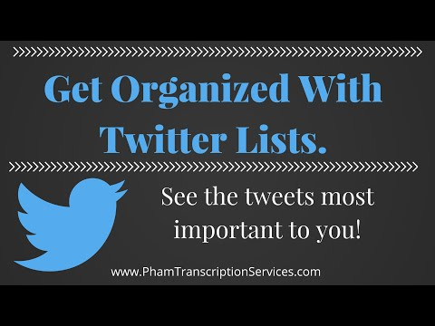 Tutorial How To Subscribe / Create Twitter Lists - organize feed