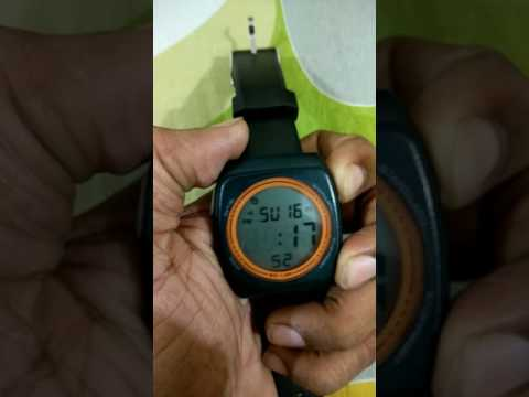 Puma Digital Watch. How to set time.