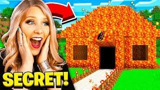 I Found PrestonPlayz Secret Lava Minecraft House!