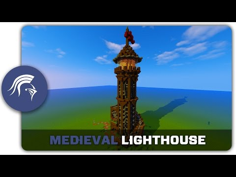 Minecraft Building Tutorial : How to build a Medieval Lighthouse