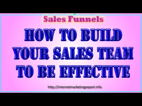 SALES TEAM - How to Build Your Sales Team to be Effective
