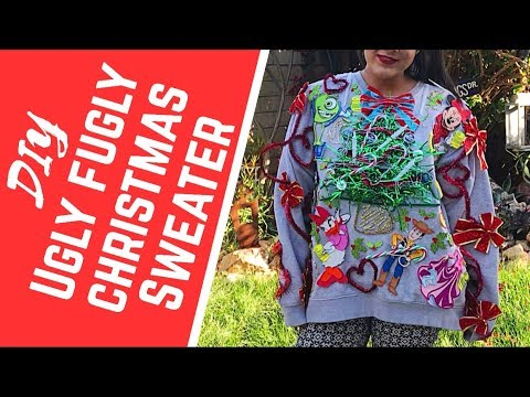 DIY Ugly Christmas Sweater//How to make a WINNING ☃️ UGLY CHRISTMAS SWEATER 🎄