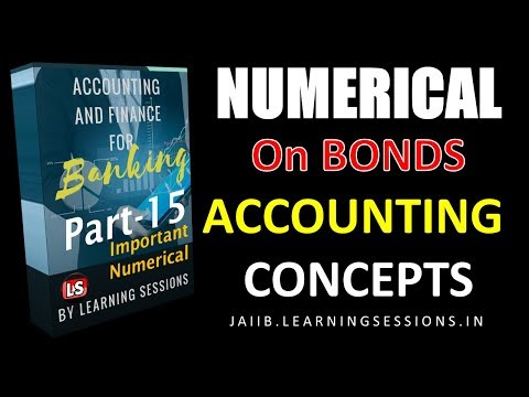 Numerical on Value/Price of Bond Accounting and Finance for Banking JAIIB