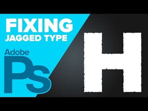 How to Fix Jagged Text in Photoshop