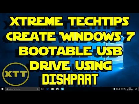 How to Create Windows 7 bootable usb drive using DISKPART