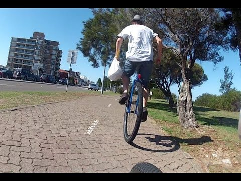 Giant unicycle vs stealth electric bike