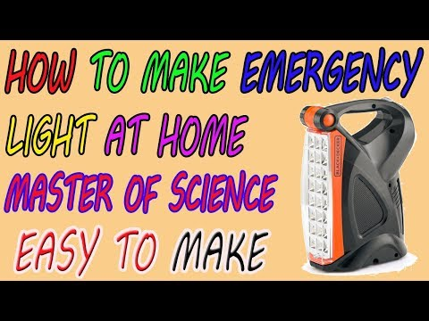 How to make automatic rechargeable emergency light at home