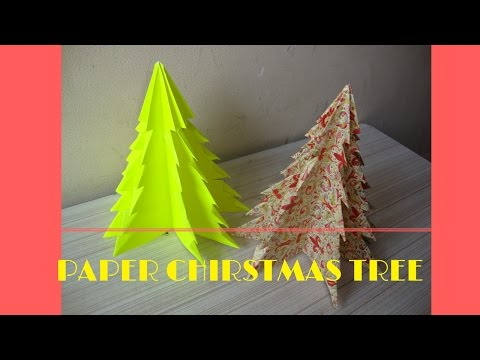 craft from paper : 3d christmas tree from paper.