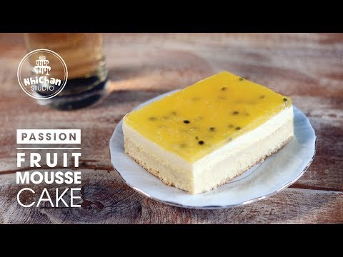 Cách làm Bánh Mousse Chanh Leo | How to make Passion Mousse Cake | Nhi Chan