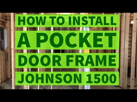 How To Install a Pocket Door Frame Johnson Hardware 1500 Kit
