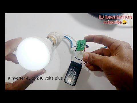 Inverter 4v to 240v | transformers less power supply | battery charger from insect killer badminton