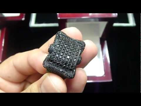 Mr Chris Da Jeweler Real Black Diamond Necklace, Bracelet, Ring & Earing Set