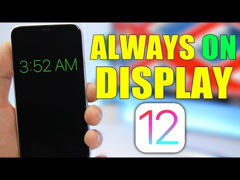 How To Enable ALWAYS ON DISPLAY On iOS 12 !