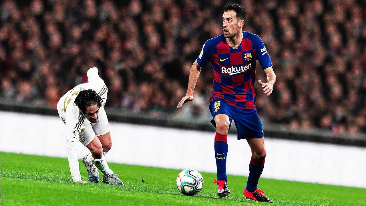Sergio Busquets, cool as you like..