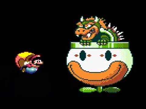 Super Mario World: Bowser's Castle & Ending (All 8 Doors Shown)