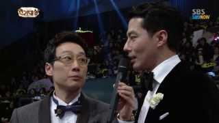 SBS [2013연기대상] - 공로상(김수미), 돌발질문에 당황한 조인성