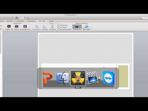 PowerPoint To DVD via Burn in Mac OS X